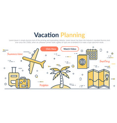 header vacantion planning vector image