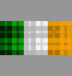 irish tartan flag vector image