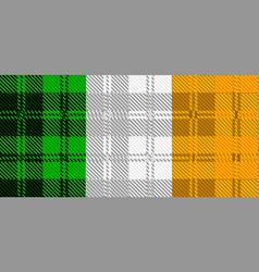Irish tartan flag vector
