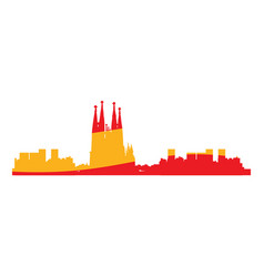 Isolated cityscape of barcelona vector