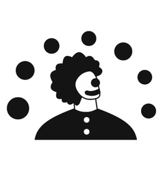 Juggler man simple icon vector
