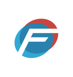 letter f initial logo vector image