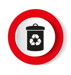 litter sign white icon in the red vector image vector image