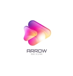 Logo template Abstract arrow shape and vector