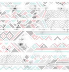 marble texture design with white geometric lines vector image