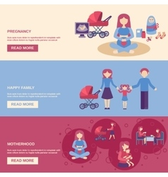 Motherhood Banner Set vector image