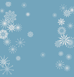 New year background with falling snowflakes vector