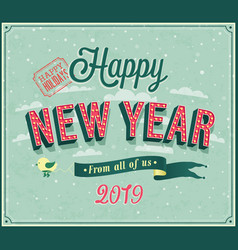 new year typographic design vector image