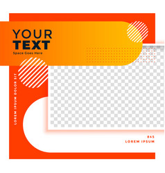 Nice social media post banner with image space vector
