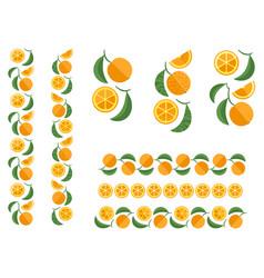 orange fruit colored ornament vector image