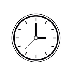 Pictogram clock time watch work icon vector