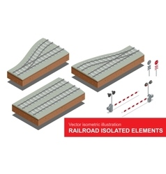 Railroad isolated elements for rail freight vector image