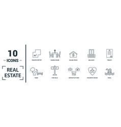 Real estate icon set include creative elements vector