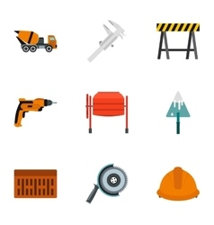 Repair tools icons set flat style vector