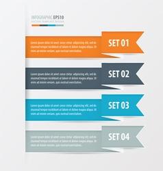 Ribbon Modern infographics banner vector