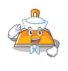sailor dustpan character cartoon style vector image