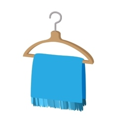 Scarf on coat-hanger cartoon icon vector image