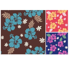 seamless flower summer fabric pattern vector image