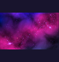 space background bright milky way with nebula and vector image