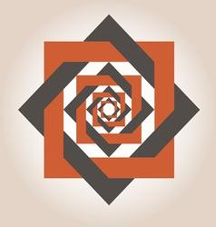 Square in a square geometrical design vector