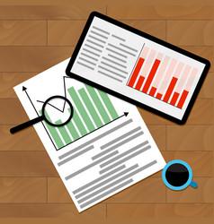 Statistical finance analysis vector