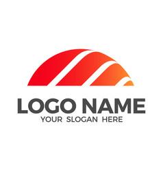 Sunset logo design inspiration vector