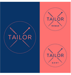 Tailor logo vector