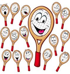 Tennis racket cartoon vector image