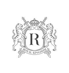 tiger crest vector image