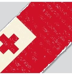Tonga grunge flag vector