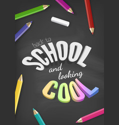 welcome back to school design with colorful text vector image