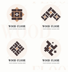 wood flooring company logos wood flooring company vector image