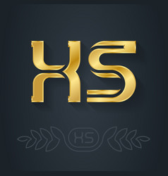x and s - initials or logo xs - abbreviation vector image