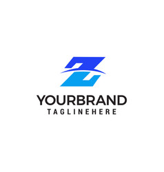z letter logo design concept template vector image