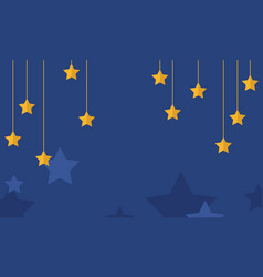 Blue background with yellow star collection vector