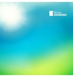 Bright green sunny background vector image