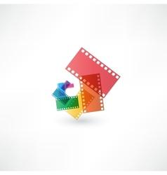 Film icon wave vector image