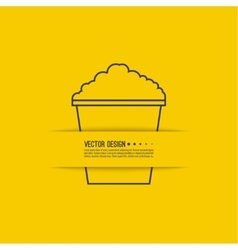 Full bucket of popcorn vector image vector image