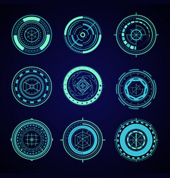 hud interface futuristic graphic elements set vector image vector image