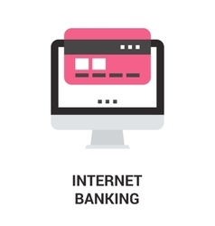 Internet banking icon concept vector