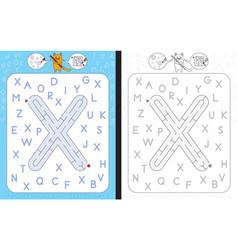 Maze letter x vector