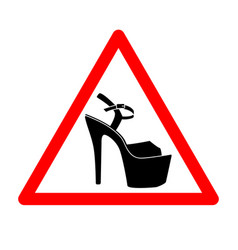 triangle with shoes inside heels icon vector image vector image