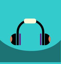 Flat icon design collection music headphones vector
