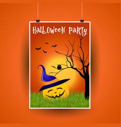 halloween flier design vector image vector image
