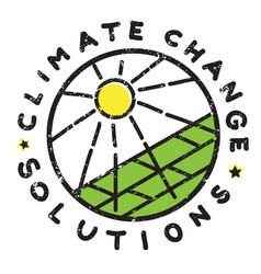 climate change sun vector image