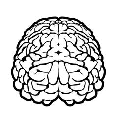 Unique human brain sign vector image vector image
