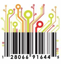 abstract barcode vector image