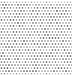 Black and white seamless pattern with dots vector image vector image