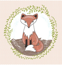Cute little fox for children vector