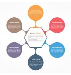 Flow chart six elements vector